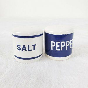 Kate Spade Salt and Pepper Shakers Navy White